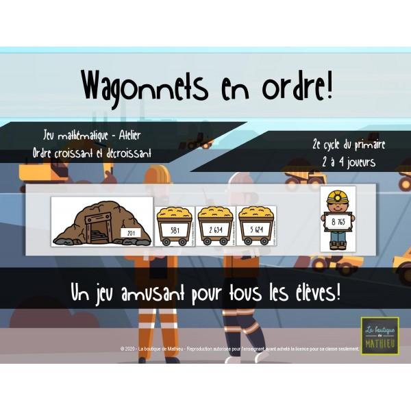 Wagonnet en ordre – Ordre croissant/décroissant
