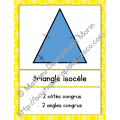 Affiches des différents triangles