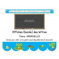 Affiches de l'alphabet – grenouilles