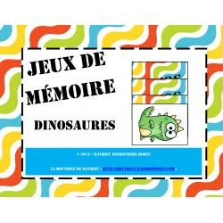 Jeux de mémoire – Dinosaures (memory)