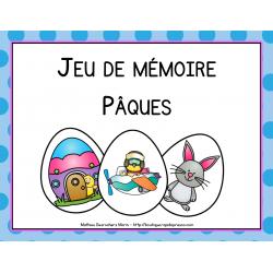 Jeu de mémoire de Pâques (memory)