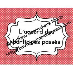Les participes passés (affiches + aide-mémoire)