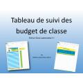 Tableau de suivi des budget de classe (excel)