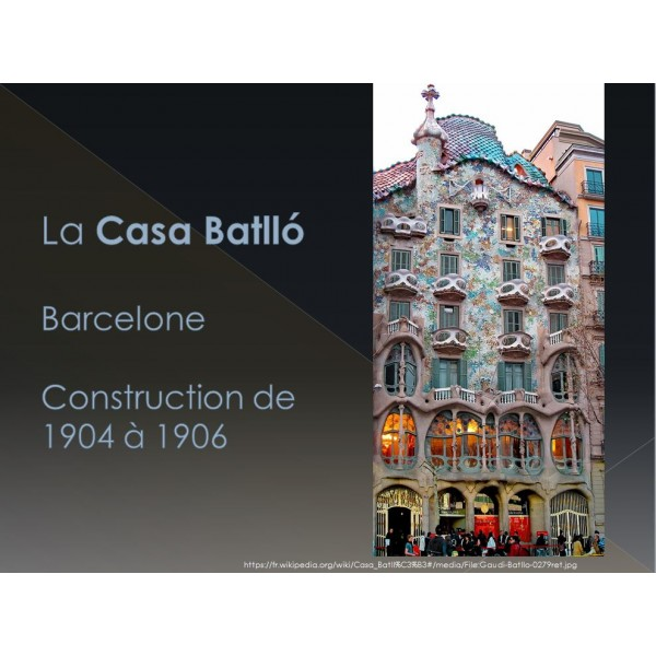 Appréciation en art d'Antoni Gaudí