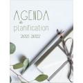 Agenda de planification, planificateur 2021-2022