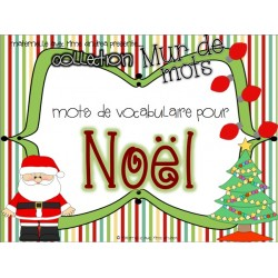 Collection mur de mots - mots de Noël