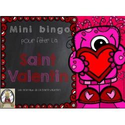 Mini Bingo des animaux de la Saint-Valentin