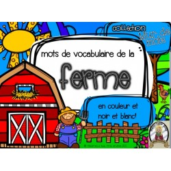 Collection mur de mots - La ferme