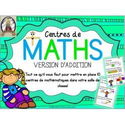 Centres de mathématiques - Addition
