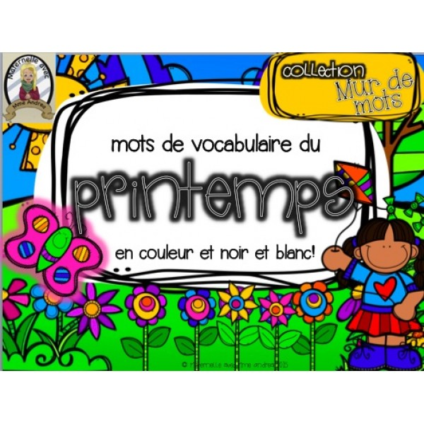 Collection Mur de mots - Le printemps