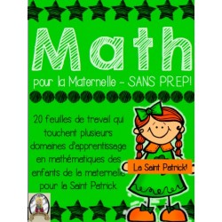 Math pour la maternelle - la Saint Patrick