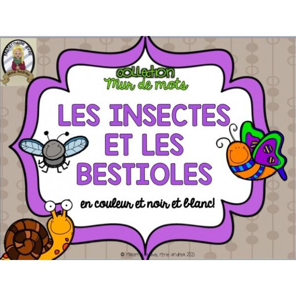 Collection Mur de mots -Les insectes/les bestioles