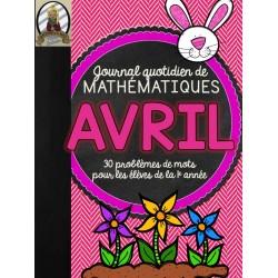 Journal quotidien de maths - avril (1e année)