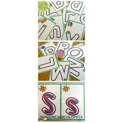 Cartes de pâte à modeler - l'alphabet