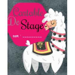 Identification pour cartable de stage (Lama)