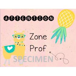 Affiche - Zone prof