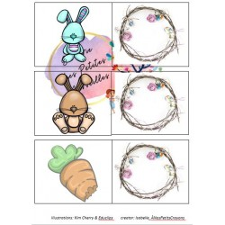 jeu de mémoire- lapin de paques