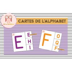 Cartes de l'alphabet en majuscule