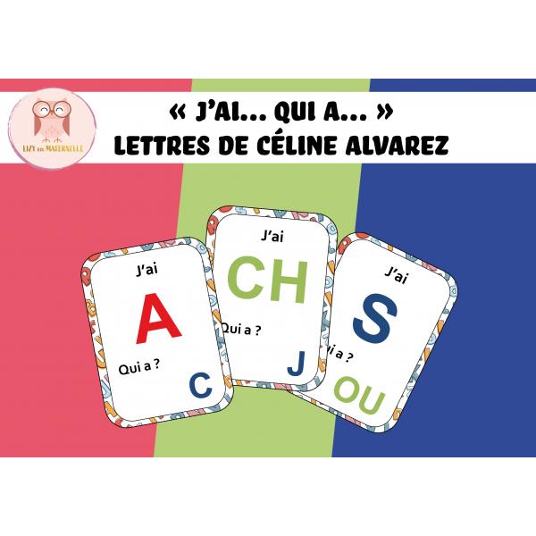 Jeu de cartes J'ai, qui a? Lettres Céline Alvarez