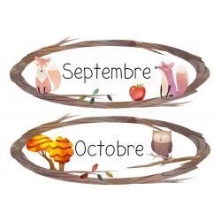 Affiches des mois - Animaux