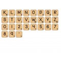 Letter Tile Cliparts