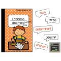 Cahier interactif - La classe des mots variables