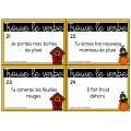 24 cartes à tâches : Trouve le verbe
