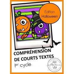 Compréhension de courts textes : Édition Halloween