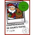 Compréhension de courts textes : Édition Noël