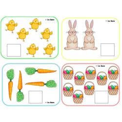 Pâques - Associer les chiffres aux images